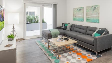 Furnished with Flatscreen TV, Sofa, Couch, Coffee Table