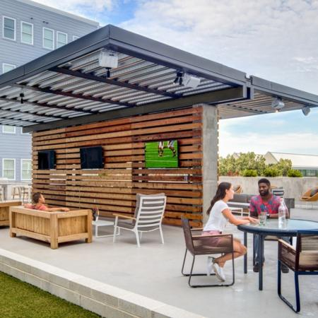 Outdoor Lounge and seating area, grilling station, flat screen TV, roof deck
