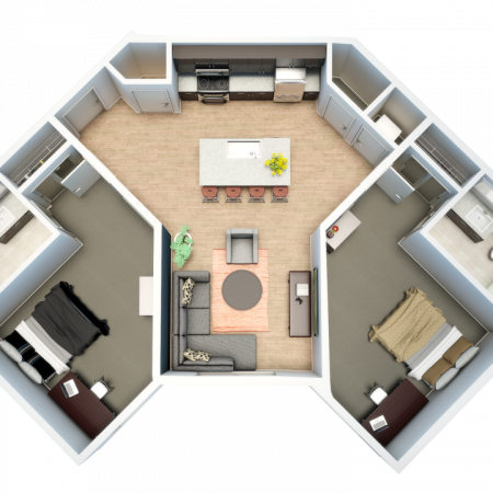 2 Bedroom Floor Plan | Apartment In Auburn | Evolve Auburn