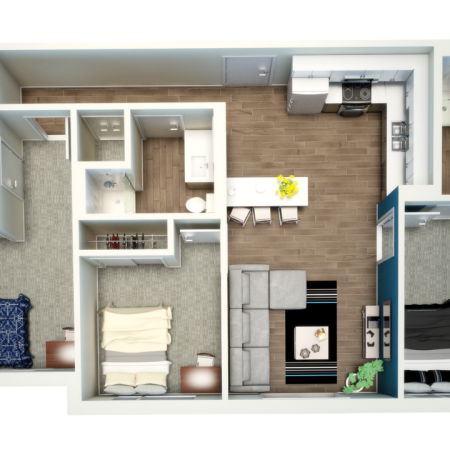 3 Bedroom Floor Plan | Apartments Near Csu | Uncommon Fort Collins