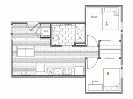 2 x 1 Terrace