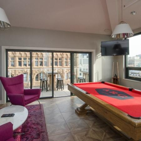 pool table, TV, lounge, balcony, Apartments, rooftop
