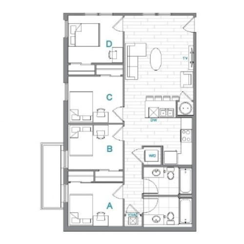 Floor Plan 10 | Uncommon Oxford