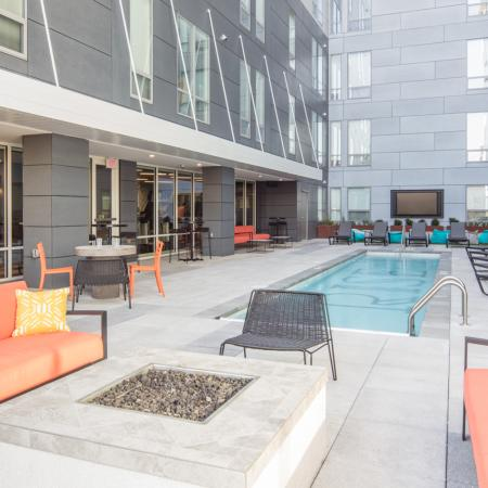 Sparkling Pool | Apartments Columbia Mo | Rise on 9th
