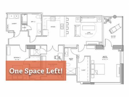 3x2 H - Bedroom C