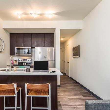 student housing, kitchen, fully-furnished
