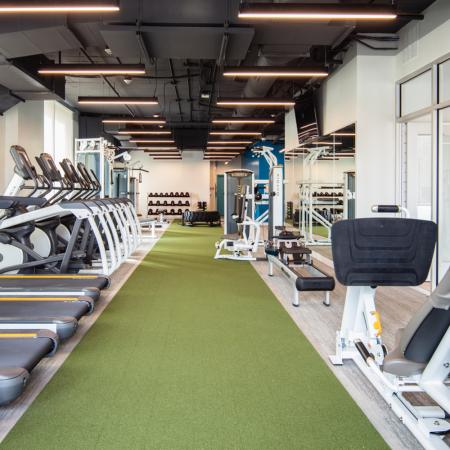 fitness center, amenities, cardio, weights, apartments