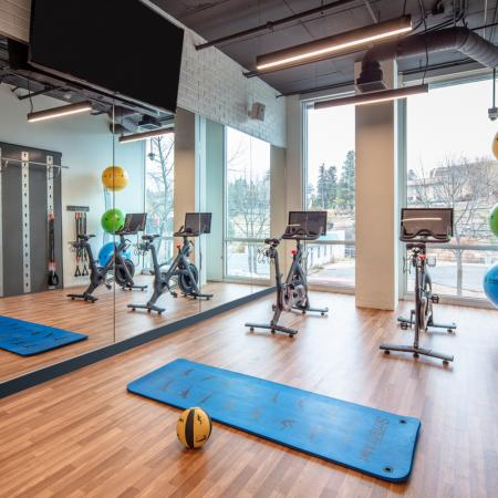 yoga room, fitness center, apartments in pullman, off campus student housing