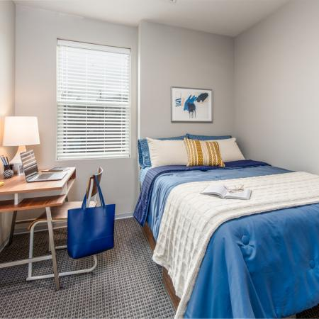 bedroom, apartment, student living