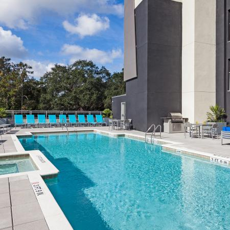 pool deck, amenities, apartments in Gainesville