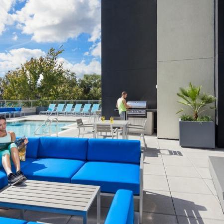 jumbo tron, patio, pool deck