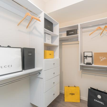 closet, storage, hangers, luxury apartments, river north, gold coast, chicago