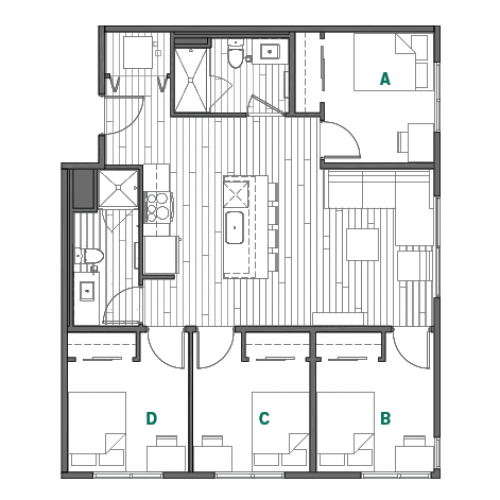 Floor Plan 4 | Reno Apartments Near Unr | Identity Reno