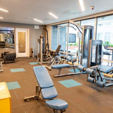 resident fitness center, apartments in columbia