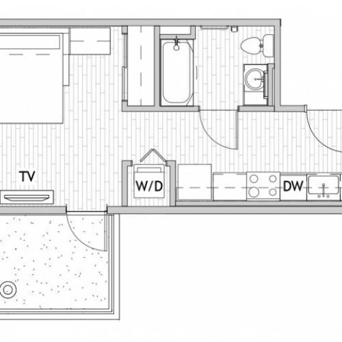 Studio 2 Balcony Premium E