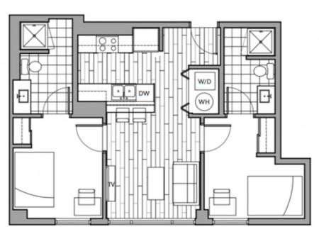 Floorplan 8 | Rise on 9th