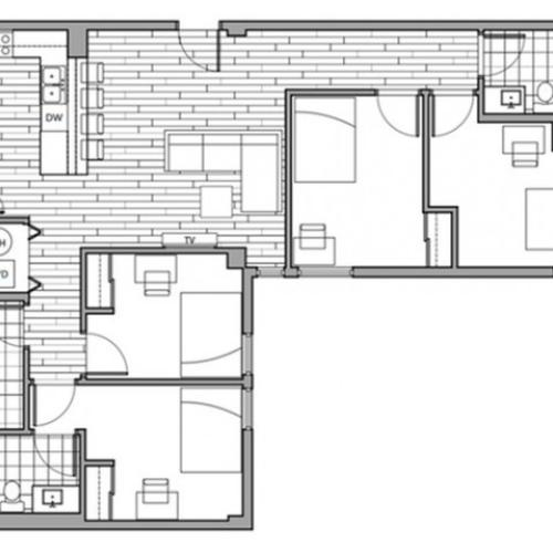 Floorplan 20 | Rise on 9th