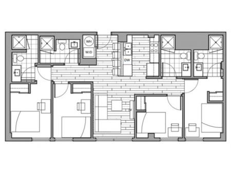 Floorplan 14 | Rise on 9th