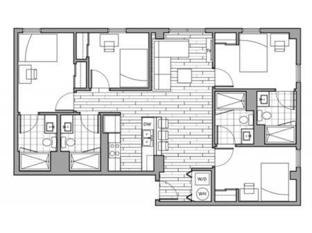 Floorplan 34 | Rise on 9th