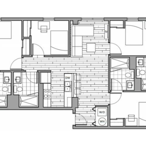 Floorplan 34 | Rise on 9th