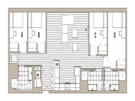 4x3 Penthouse - Less than 5