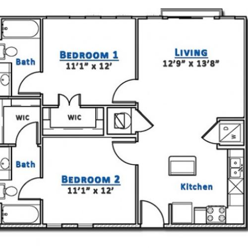 2x2 Loft- (1st fl) - fewer than 5