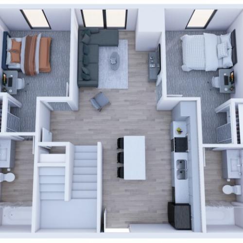4x4 Loft - Lower Level