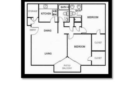 2 Bed 2 Bath Small