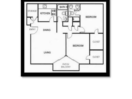 2 Bed 2 Bath Large
