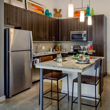 Modern Dallas Apartments | Gorgeous kitchen cabinets at our apartments in Dallas Texas.