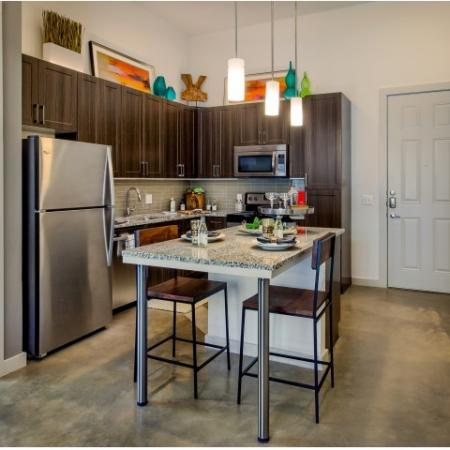 Modern Dallas Apartments | Breakfast bar in our beautifully designed apartments located in Dallas Texas.