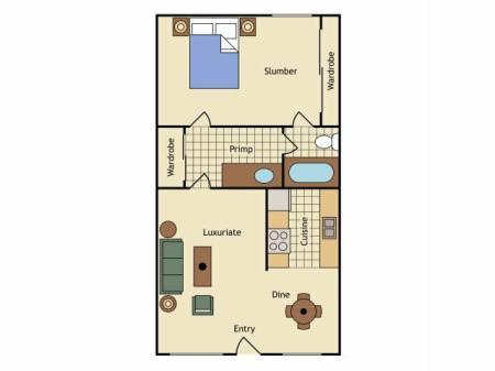 Floor Plan 1   UC Davis Apartments   University Court