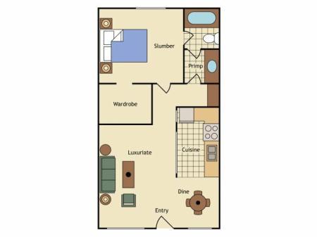 Floor Plan 6   UC Davis Apartments   University Court