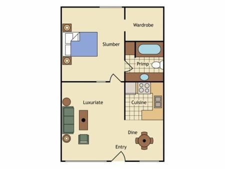 Floor Plan 8 | UC Davis Off Campus Housing | University Court