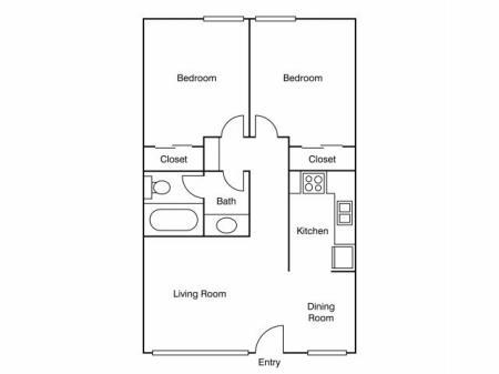 2 Bedroom Floor Plan   UC Davis Off Campus Housing   University Court