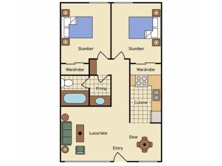 Floor Plan 10   Apartments Uc Davis   University Court