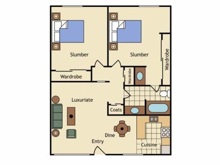 Floor Plan 12   Apartments Near UC Davis   University Court