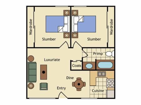 Floor Plan 15   Apartments Uc Davis   University Court