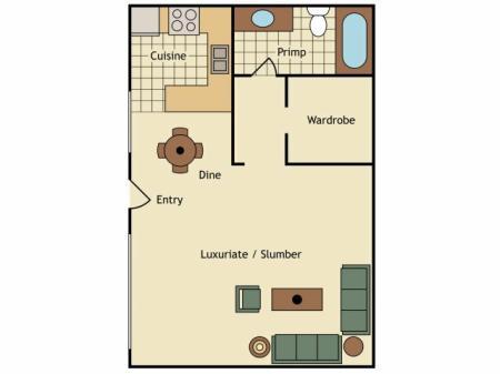 Floor Plan 18   UC Davis Off Campus Housing   University Court