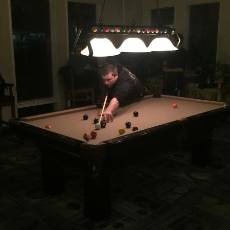 Residents Playing Billiards | Davis Apartments | University Court