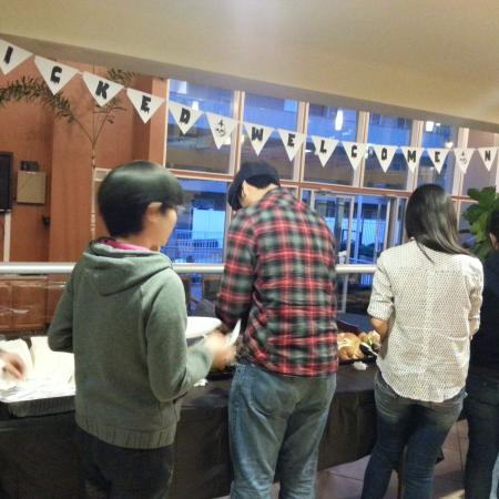 Residents Enjoying Halloween Treats | Apartments in Davis | University Court