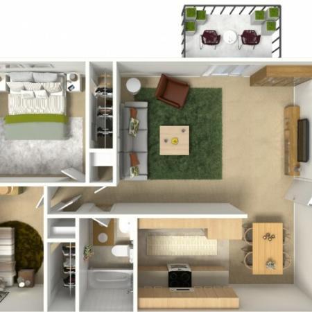 Diverse Floor Plans | Apartments Near Sacramento State University | University Village