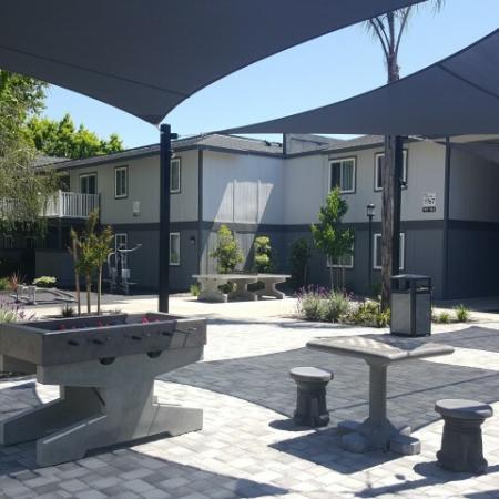 Residents Enjoying Community Grounds | Sacramento State Apartments | University Village