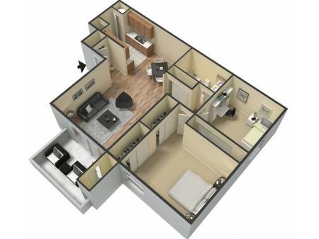 Floor Plan 2 | Sacramento Rentals | The Confluence