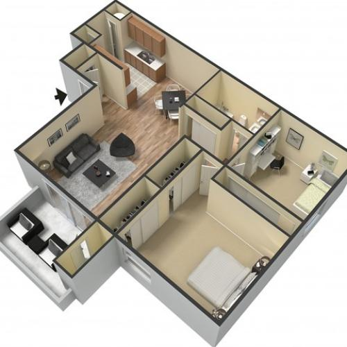 Floor Plan 2 | Sacramento Rentals | The Confluence