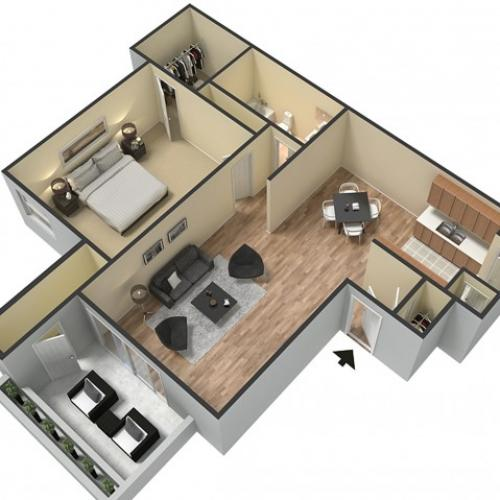 Floor Plan 1 | Sacramento Apartments | The Confluence