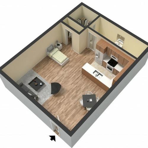 Studio Floor Plan | Studio Apartments Sacramento | Villa Regia