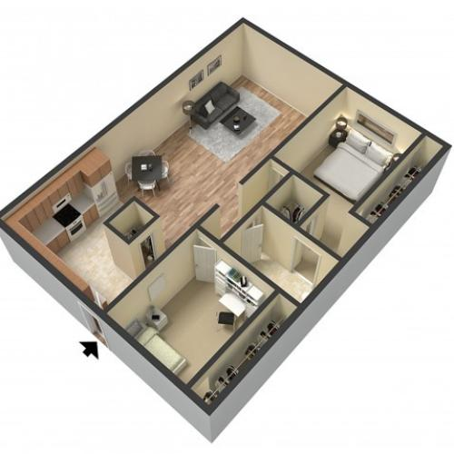 Floor Plan 1 | Sacramento Apartments | Villa Regia