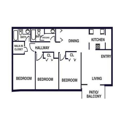 Saddle Creek Apartments: 2 Bed / 2 Bath Apartment In Alpharetta GA