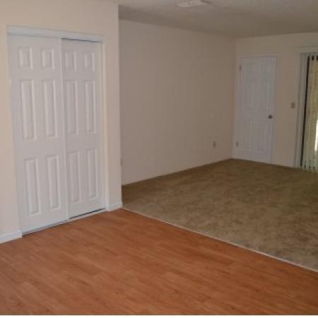 Southwest Villas, interior, wood floor, carpet floor, closets, main door, sliding glass doors